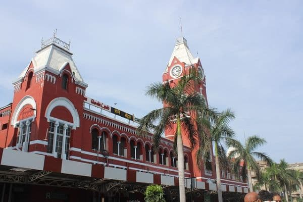 Chennai Railway Station, Tamil Nadu Travel Itinerary